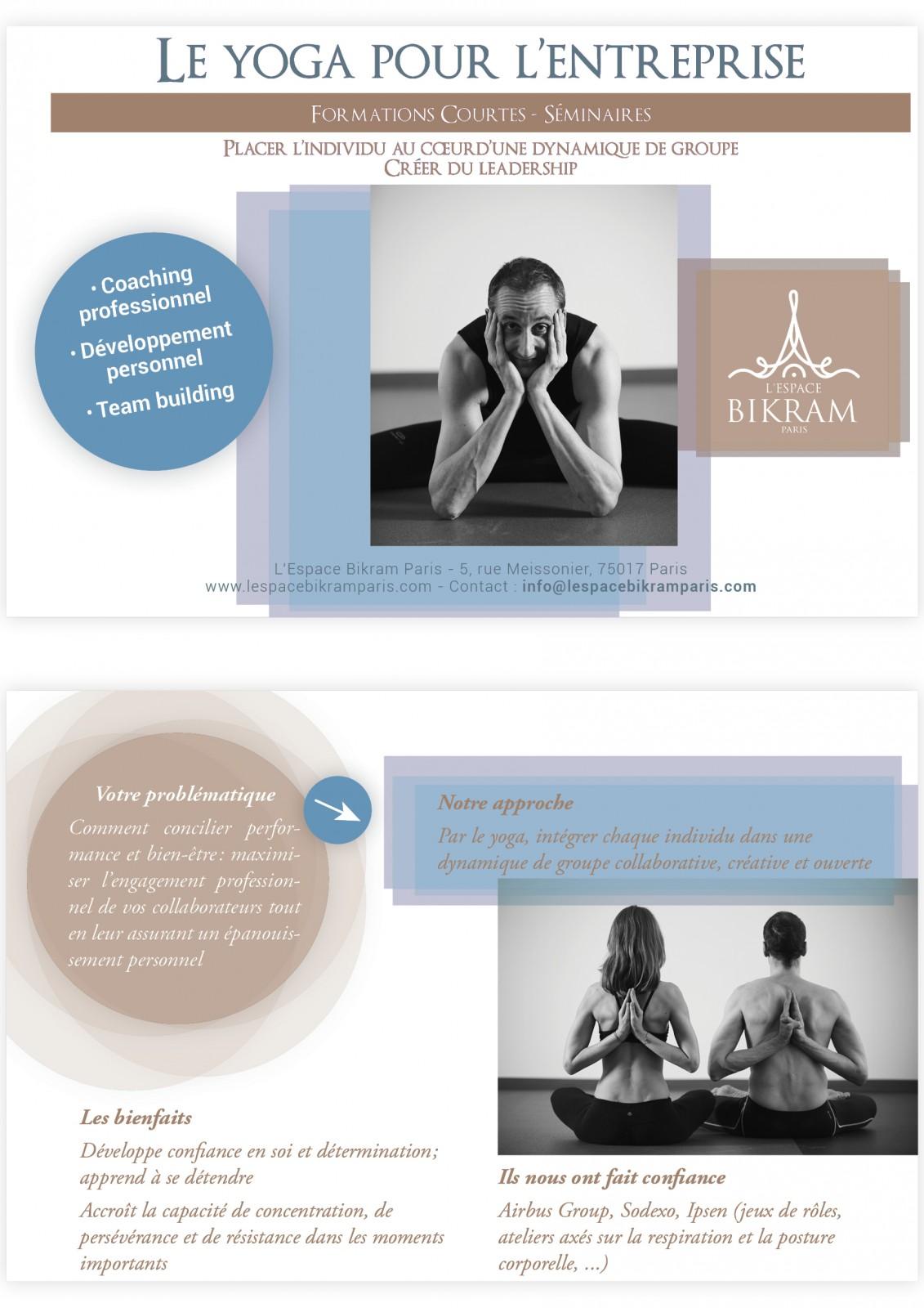 coaching professionnel et teambuliding grâce au yoga bikram à Paris